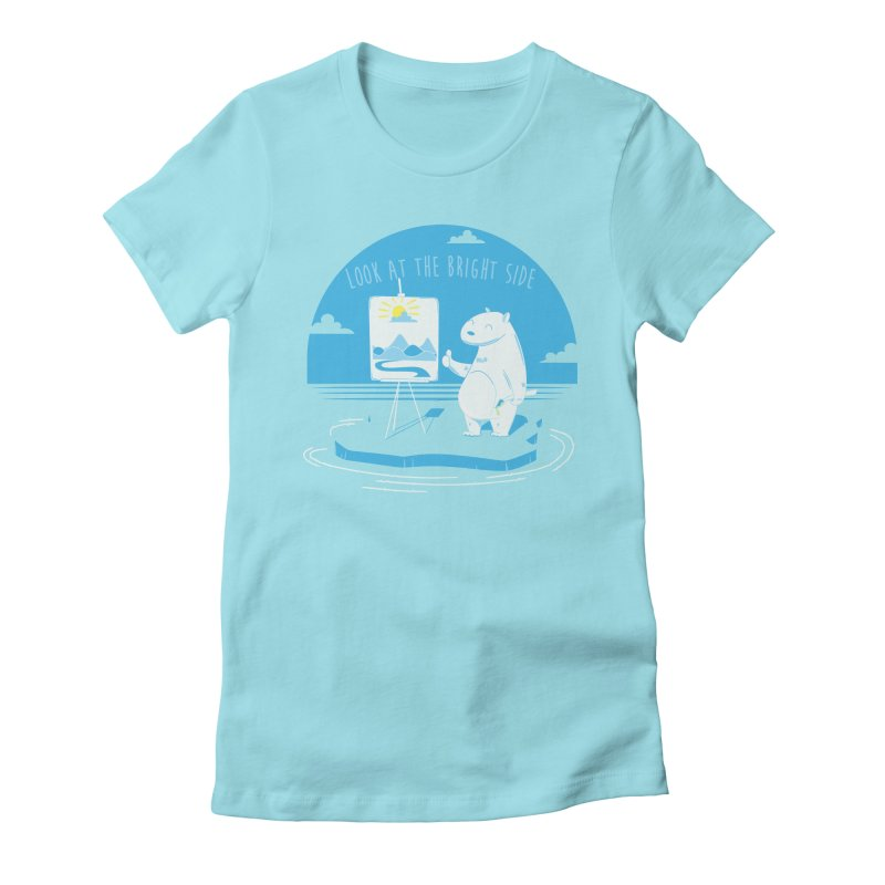 bright side Women's Fitted T-Shirt by torquatto's Artist Shop