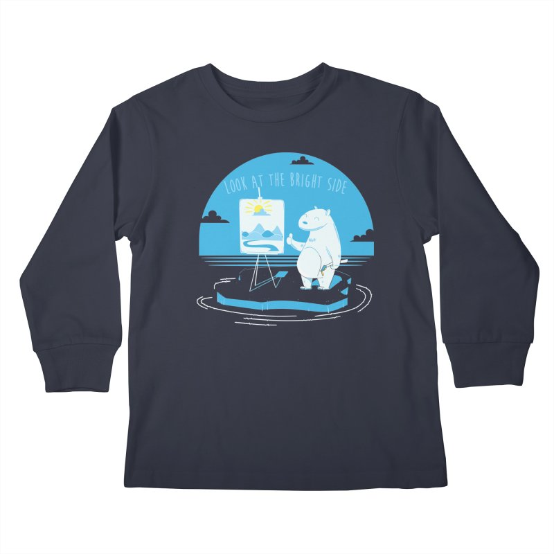 bright side Kids Longsleeve T-Shirt by torquatto's Artist Shop