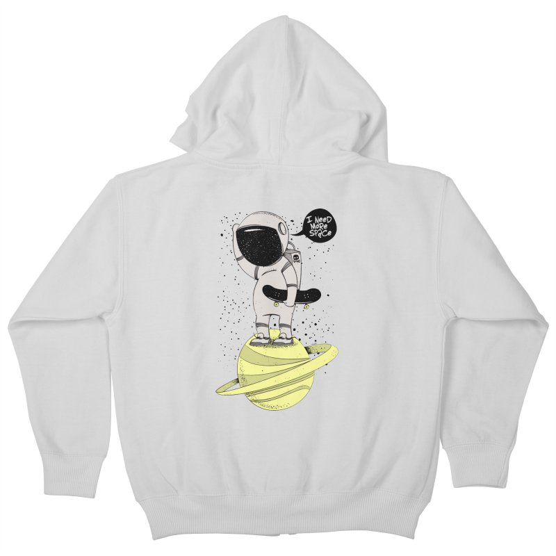 Astro Skate 1 Kids Zip-Up Hoody by torquatto's Artist Shop