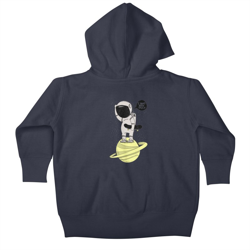 Astro Skate 1 Kids Baby Zip-Up Hoody by torquatto's Artist Shop