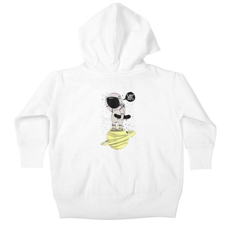 Astro Skate 1 Kids Baby Zip-Up Hoody by torquatto's Artist Shop