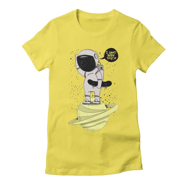 Astro Skate 1 Women's Fitted T-Shirt by torquatto's Artist Shop
