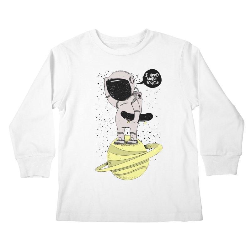 Astro Skate 1 Kids Longsleeve T-Shirt by torquatto's Artist Shop