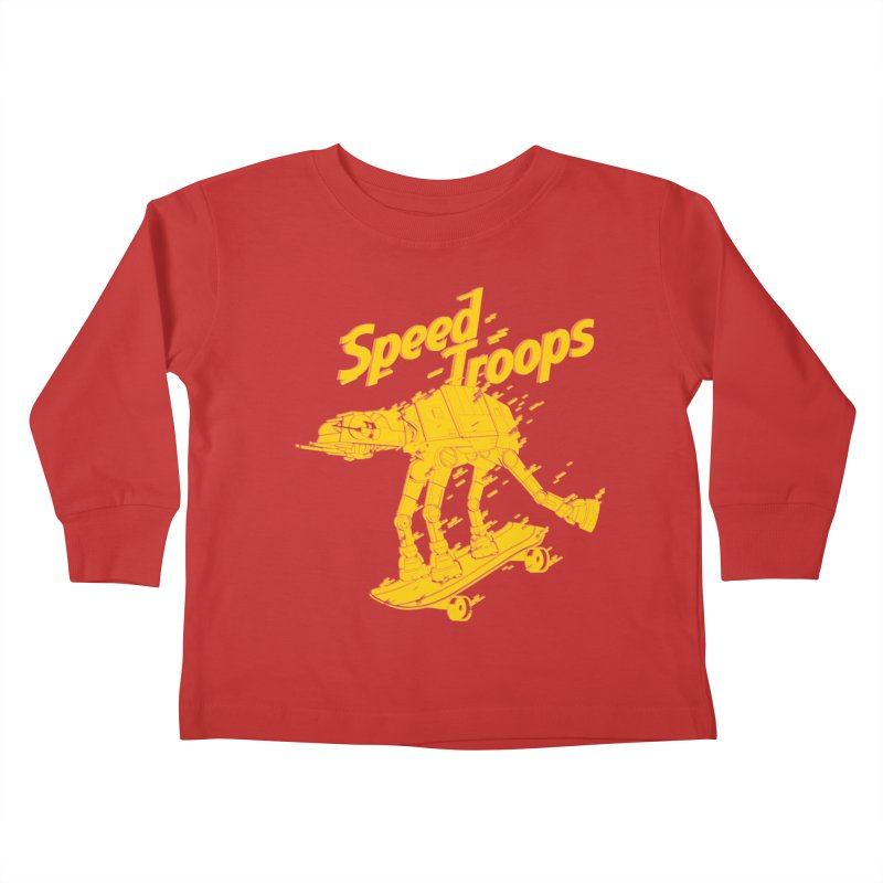 Speed Troops 1 Kids Toddler Longsleeve T-Shirt by torquatto's Artist Shop