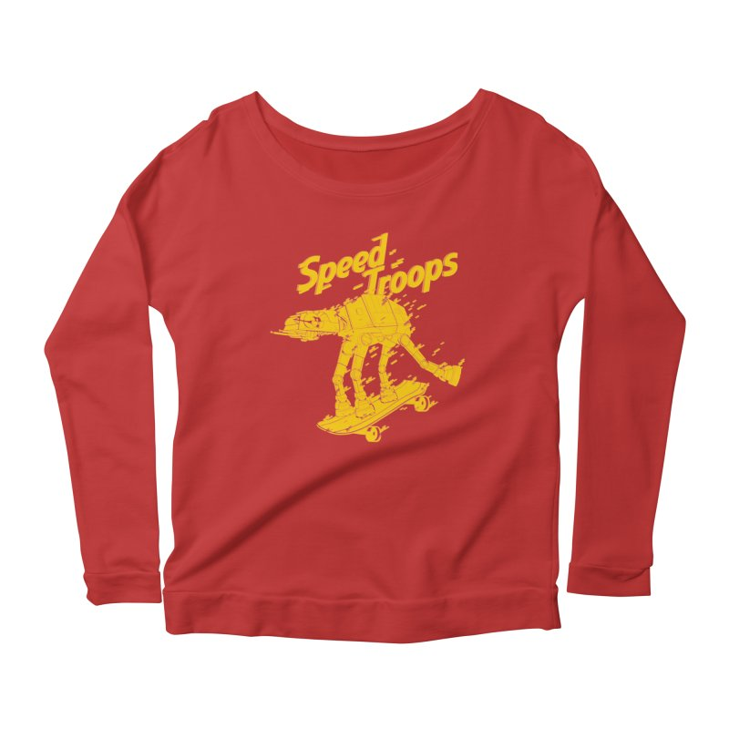Speed Troops 1 Women's Longsleeve Scoopneck  by torquatto's Artist Shop