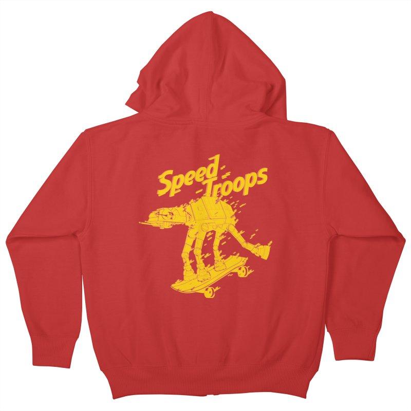 Speed Troops 1 Kids Zip-Up Hoody by torquatto's Artist Shop