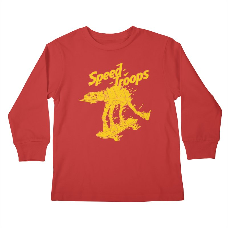 Speed Troops 1 Kids Longsleeve T-Shirt by torquatto's Artist Shop