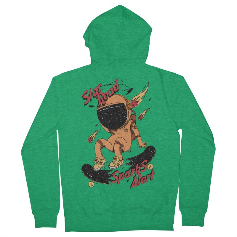 Spark Alert Men's French Terry Zip-Up Hoody by torquatto's Artist Shop