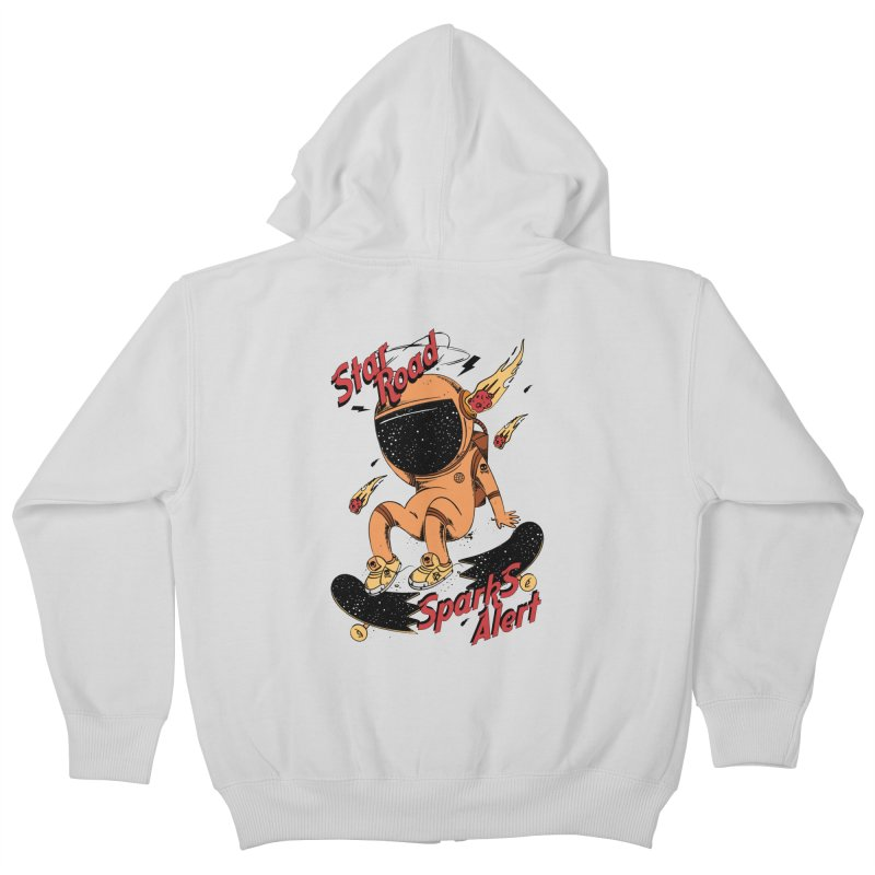 Spark Alert Kids Zip-Up Hoody by torquatto's Artist Shop