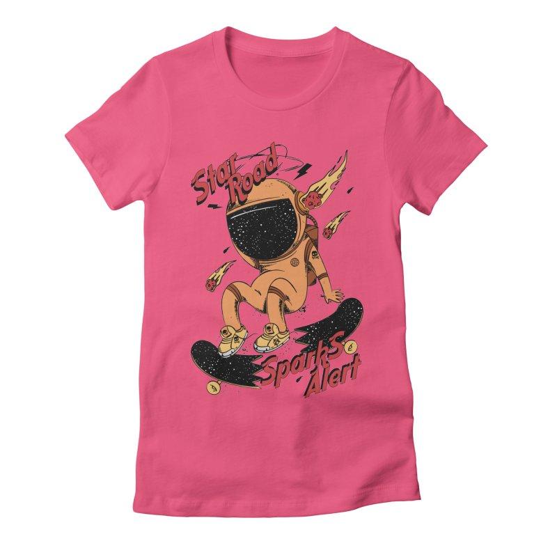 Spark Alert Women's Fitted T-Shirt by torquatto's Artist Shop