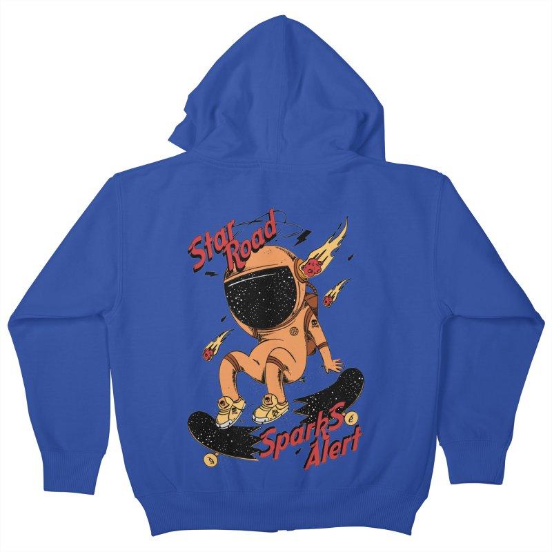 Spark Alert Kids Zip-Up Hoody by torquatto's Artist Shop