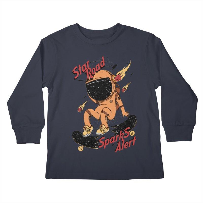 Spark Alert Kids Longsleeve T-Shirt by torquatto's Artist Shop
