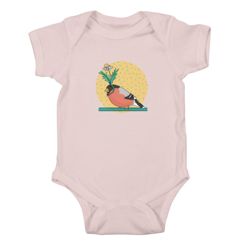 Bird of a feather Kids Baby Bodysuit by Tostoini