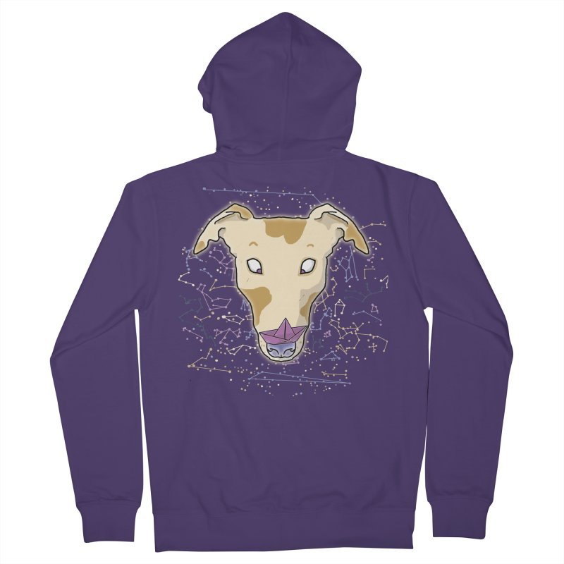 Space greyhound Women's French Terry Zip-Up Hoody by Tostoini