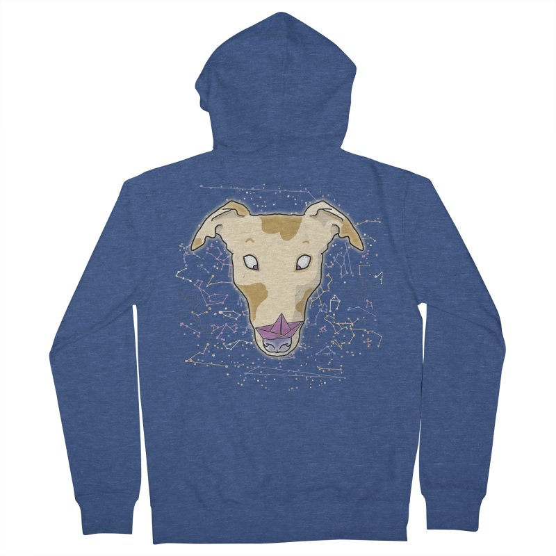 Space greyhound Men's French Terry Zip-Up Hoody by Tostoini