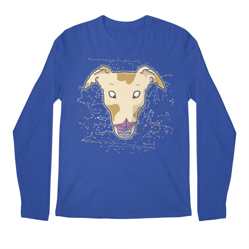 Space greyhound Men's Regular Longsleeve T-Shirt by Tostoini