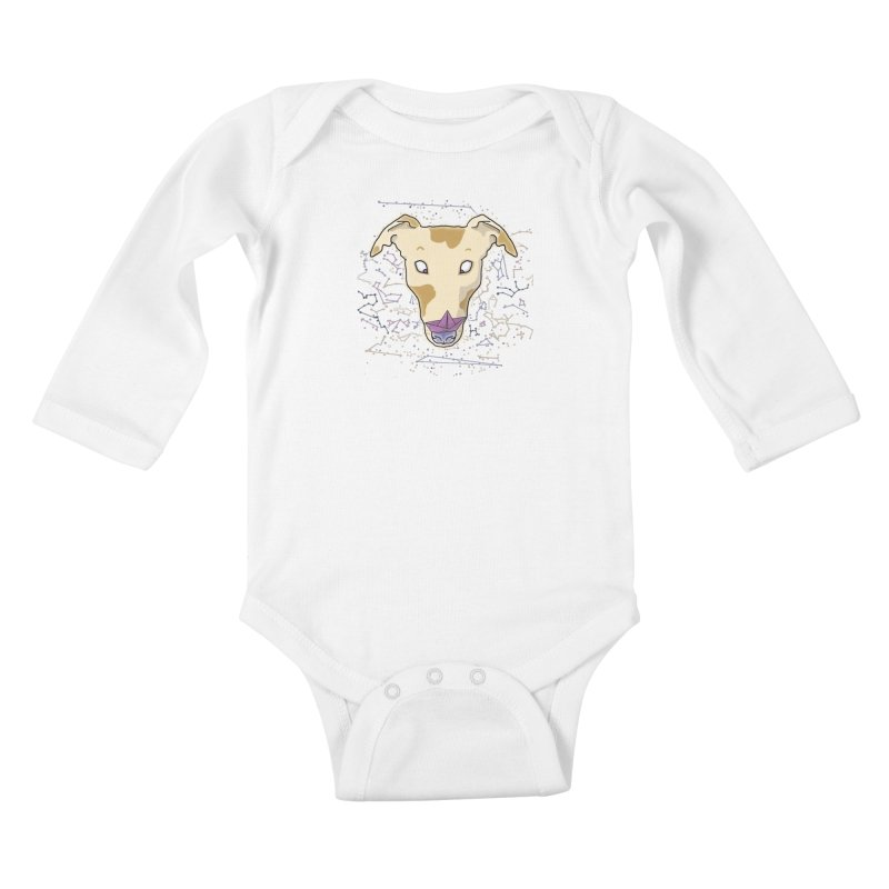 Space greyhound Kids Baby Longsleeve Bodysuit by Tostoini