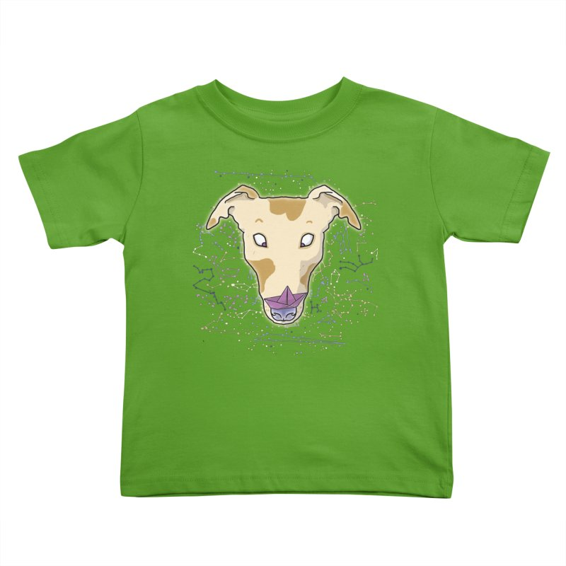 Space greyhound Kids Toddler T-Shirt by Tostoini