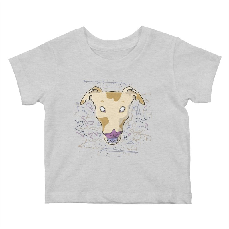 Space greyhound Kids Baby T-Shirt by Tostoini
