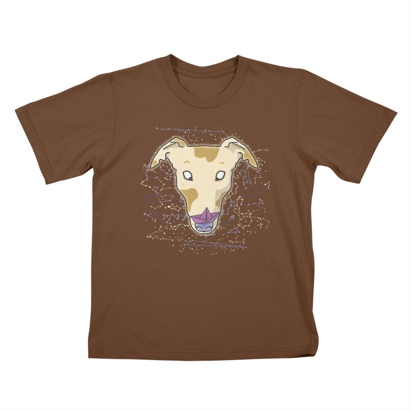 Space greyhound Kids T-Shirt by Tostoini