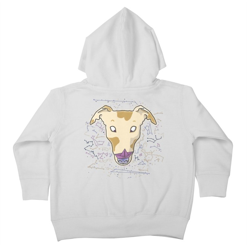 Space greyhound Kids Toddler Zip-Up Hoody by Tostoini