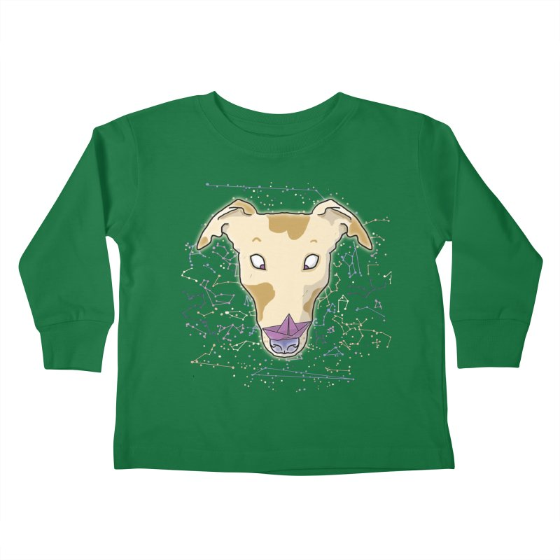 Space greyhound Kids Toddler Longsleeve T-Shirt by Tostoini