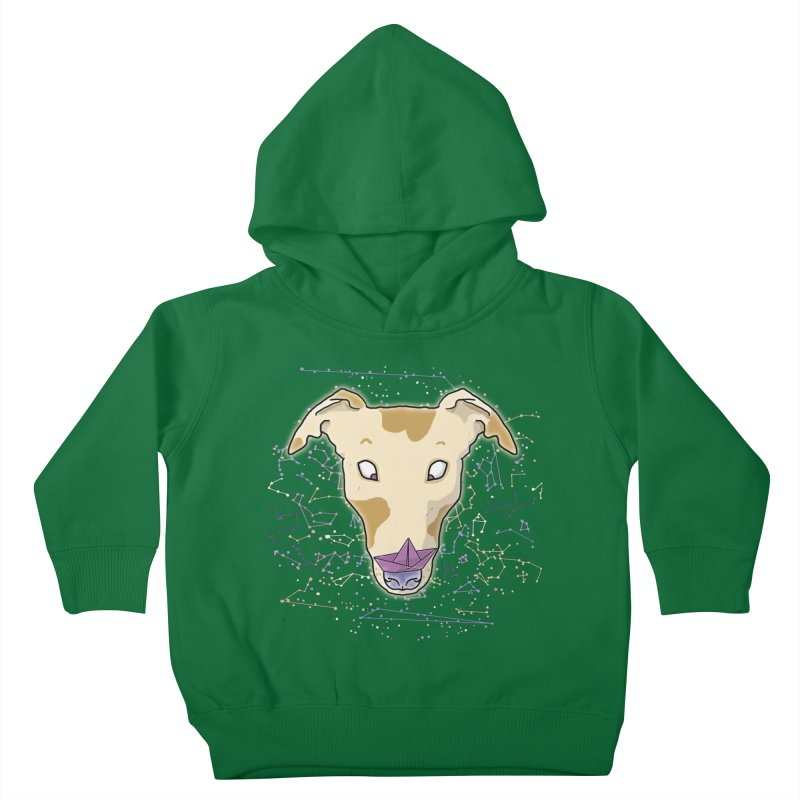 Space greyhound Kids Toddler Pullover Hoody by Tostoini