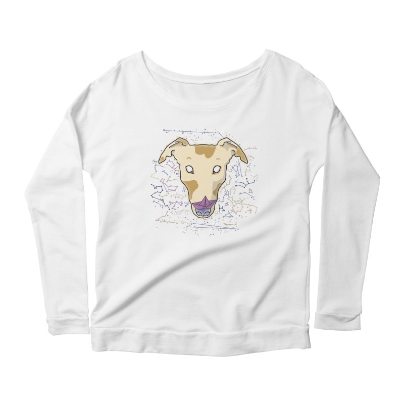 Space greyhound Women's Scoop Neck Longsleeve T-Shirt by Tostoini