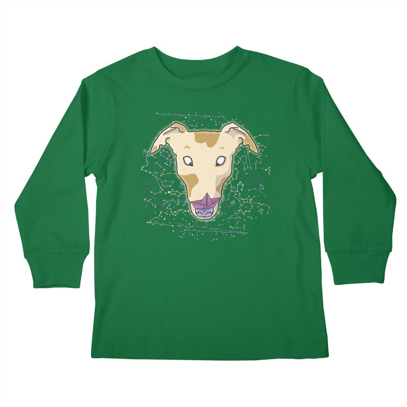 Space greyhound Kids Longsleeve T-Shirt by Tostoini