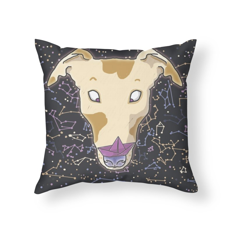 Space greyhound Home Throw Pillow by Tostoini
