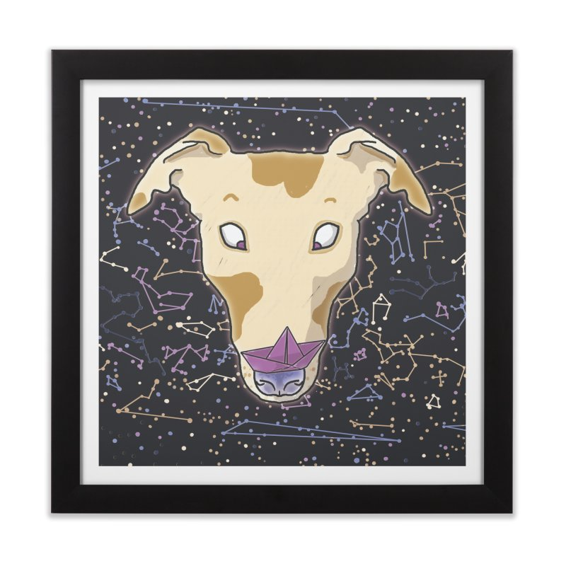 Space greyhound Home Framed Fine Art Print by Tostoini