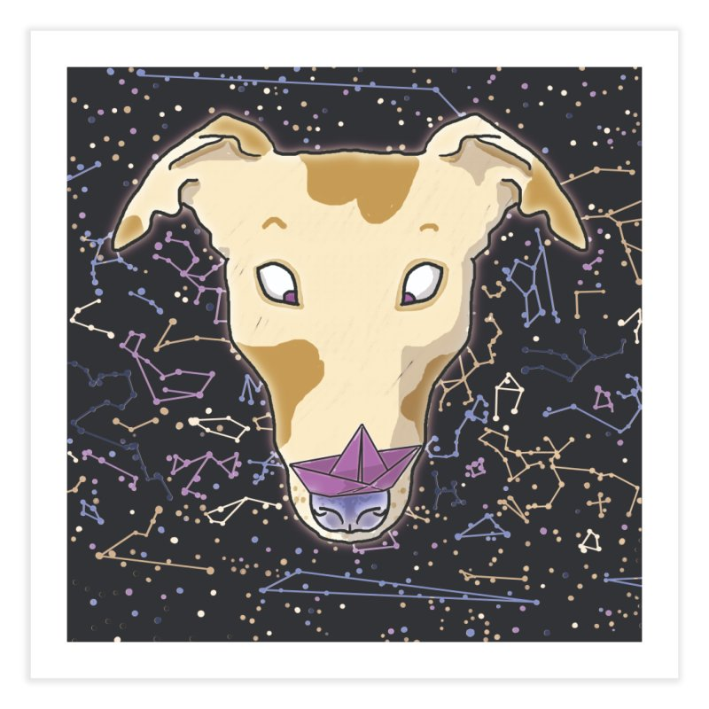 Space greyhound Home Fine Art Print by Tostoini