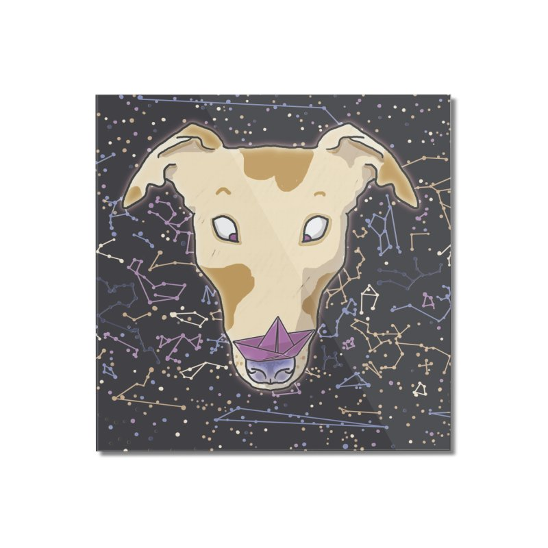 Space greyhound Home Mounted Acrylic Print by Tostoini