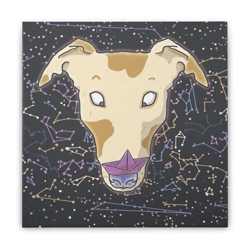 Space greyhound Home Stretched Canvas by Tostoini