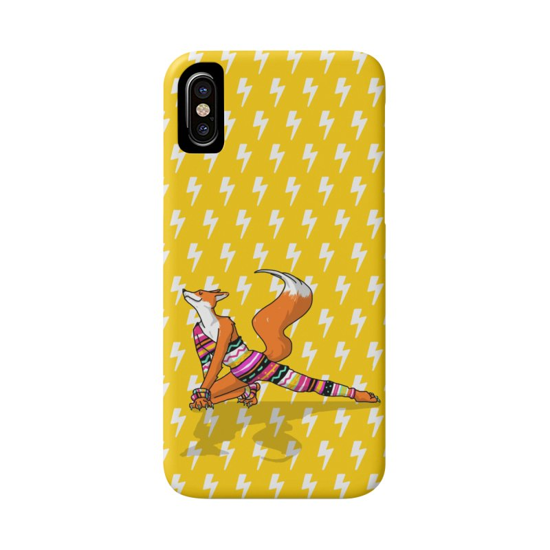 Let's dance! Dancing fox in David-bowie-inspired Eighties attire Accessories Phone Case by Tostoini