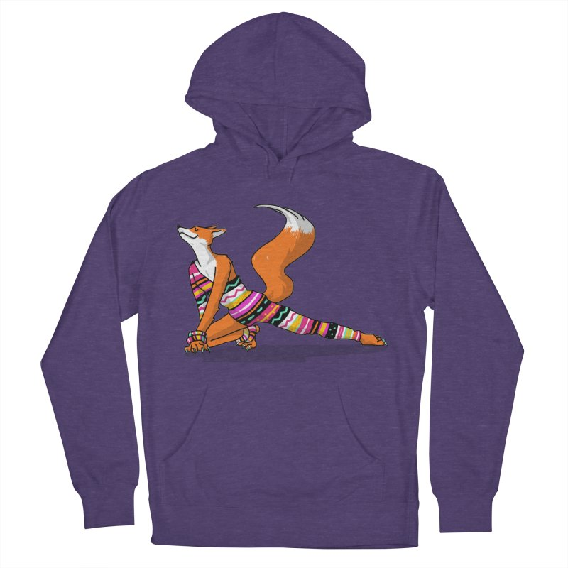 Let's dance! Dancing fox in David-bowie-inspired Eighties attire Women's French Terry Pullover Hoody by Tostoini