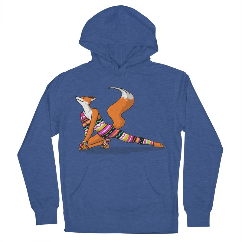 Let's dance! Dancing fox in David-bowie-inspired Eighties attire Men's French Terry Pullover Hoody by Tostoini