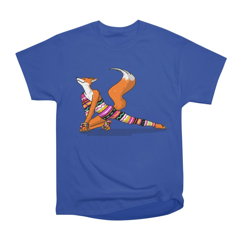 Let's dance! Dancing fox in David-bowie-inspired Eighties attire Women's Heavyweight Unisex T-Shirt by Tostoini