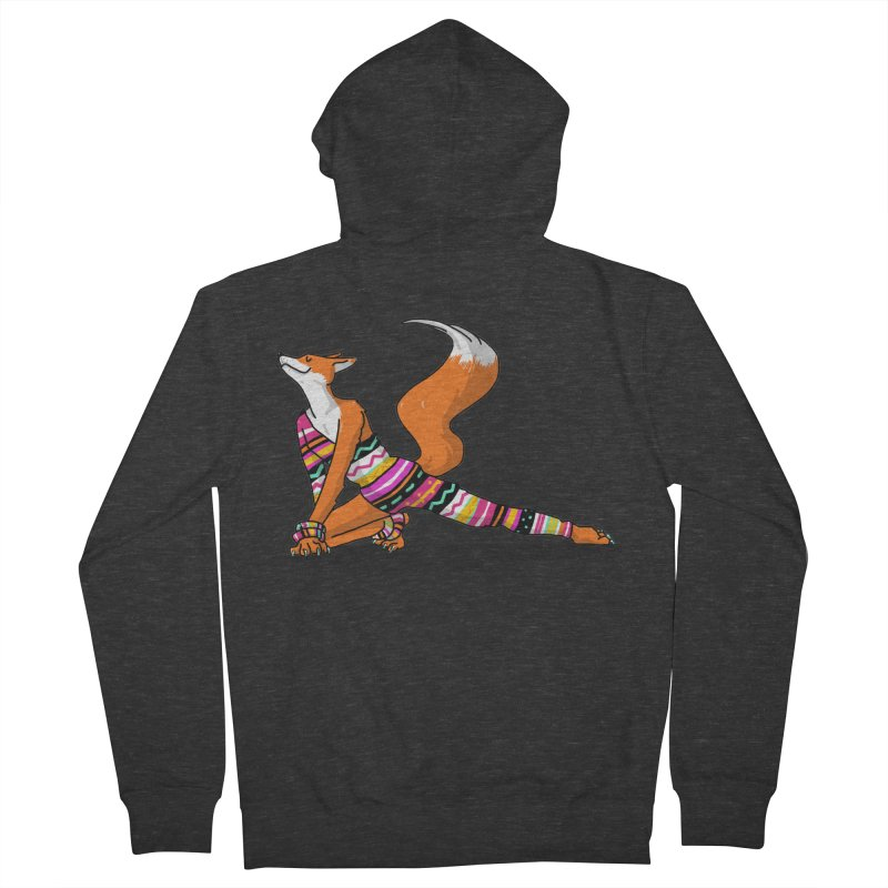 Let's dance! Dancing fox in David-bowie-inspired Eighties attire Women's French Terry Zip-Up Hoody by Tostoini