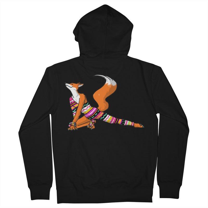 Let's dance! Dancing fox in David-bowie-inspired Eighties attire Women's Zip-Up Hoody by Tostoini