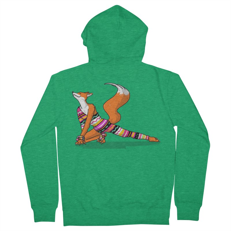 Let's dance! Dancing fox in David-bowie-inspired Eighties attire Men's French Terry Zip-Up Hoody by Tostoini
