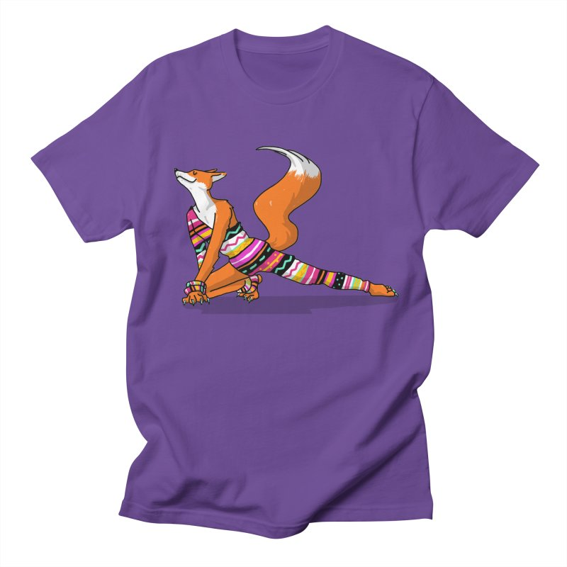 Let's dance! Dancing fox in David-bowie-inspired Eighties attire Women's Regular Unisex T-Shirt by Tostoini