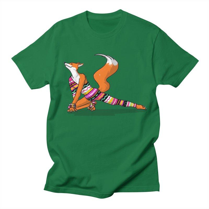 Let's dance! Dancing fox in David-bowie-inspired Eighties attire Women's Regular Unisex T-Shirt by Tostoini