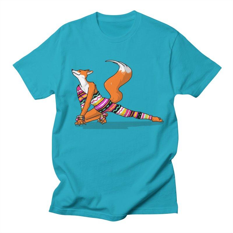Let's dance! Dancing fox in David-bowie-inspired Eighties attire Men's Regular T-Shirt by Tostoini