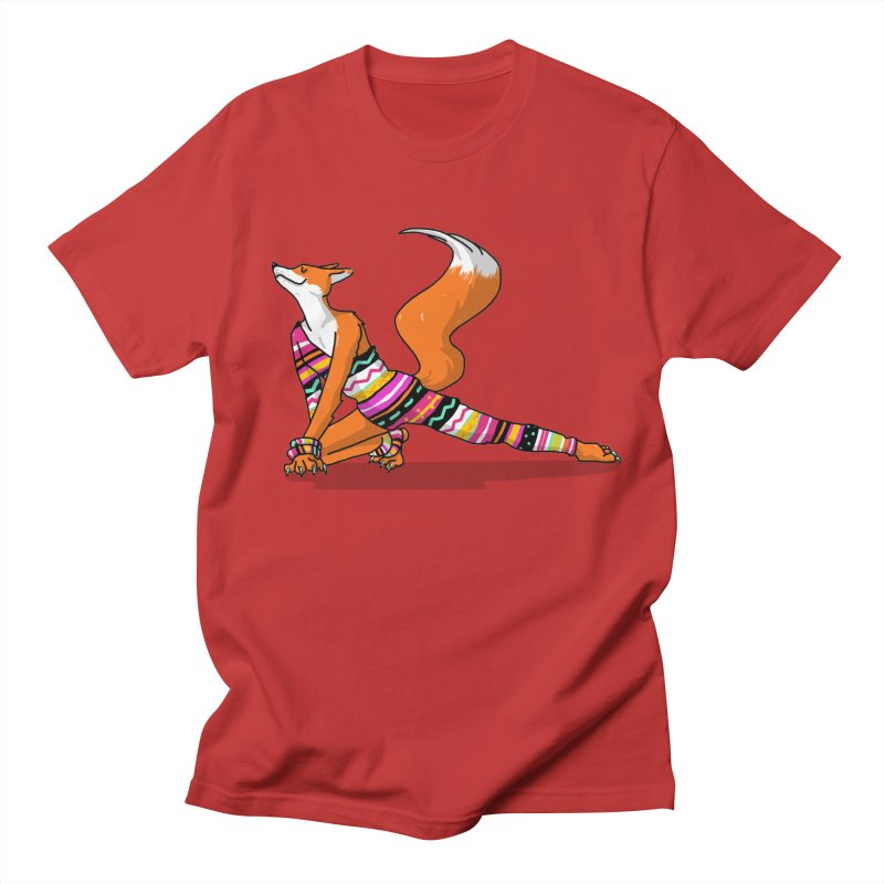 Let's dance! Dancing fox in David-bowie-inspired Eighties attire Men's Regular T-Shirt by Tostoini