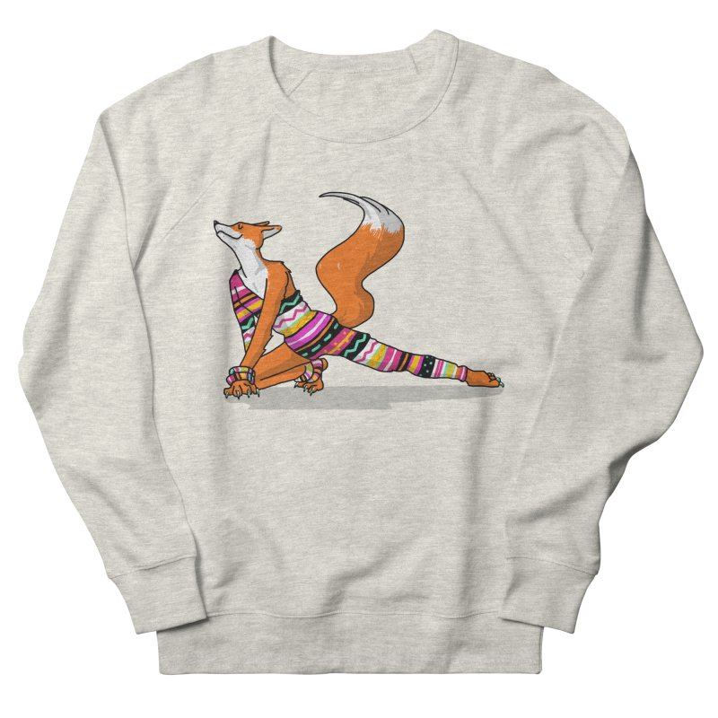 Let's dance! Dancing fox in David-bowie-inspired Eighties attire Men's French Terry Sweatshirt by Tostoini