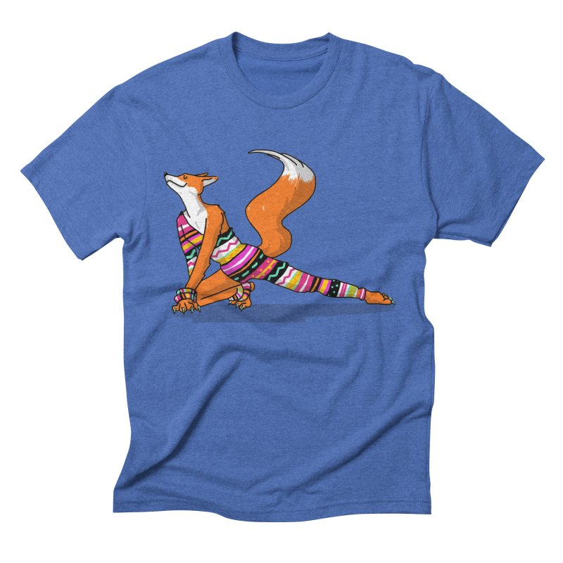 Let's dance! Dancing fox in David-bowie-inspired Eighties attire Men's T-Shirt by Tostoini