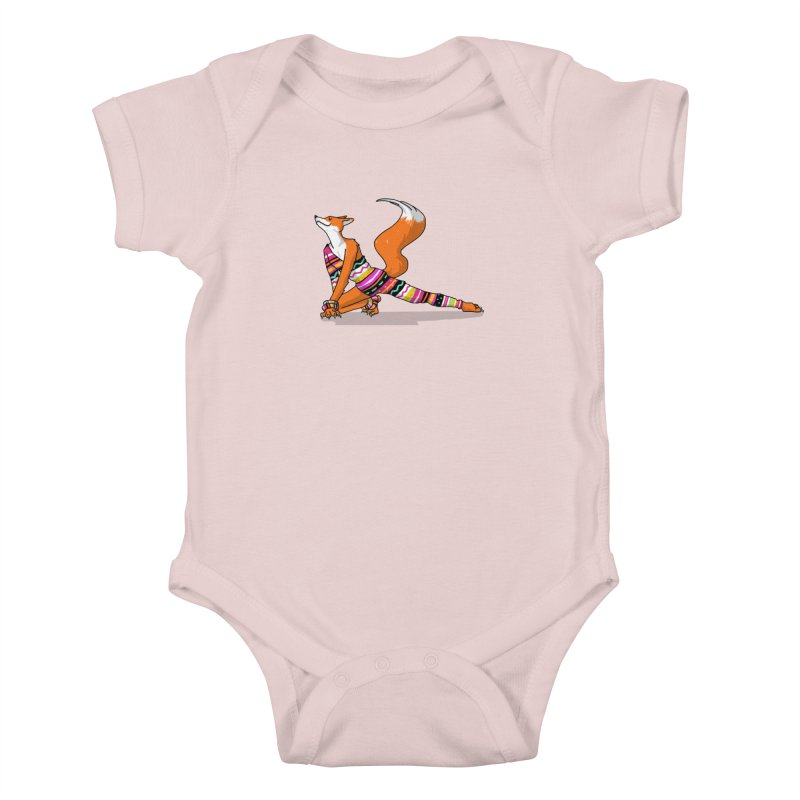 Let's dance! Dancing fox in David-bowie-inspired Eighties attire Kids Baby Bodysuit by Tostoini