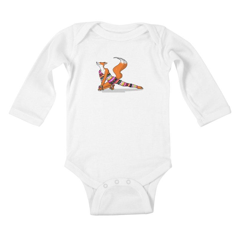 Let's dance! Dancing fox in David-bowie-inspired Eighties attire Kids Baby Longsleeve Bodysuit by Tostoini