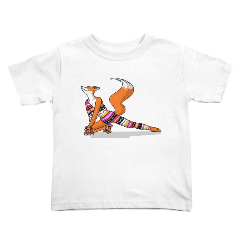 Let's dance! Dancing fox in David-bowie-inspired Eighties attire Kids Toddler T-Shirt by Tostoini